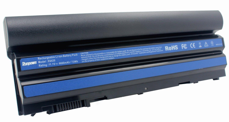 Runpower latitude e6420 battery 9 cell Laptop Battery for Dell Latitude E5420 E5430 E5530 E6420 E6430 E6520 E6530 Series [11.1V 6600mAh]