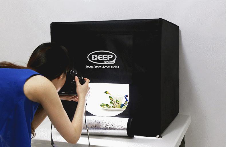 Deep Led Softbox 40cm Professional Photography Light Box Studier Set