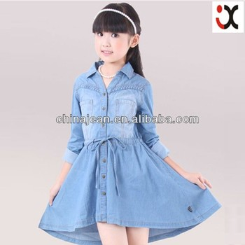2017 China Oem Kids Jeans Dress New Fashion Style Cheap Kids Denim