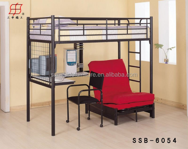 Dormitory Student Loft Bed With Desk