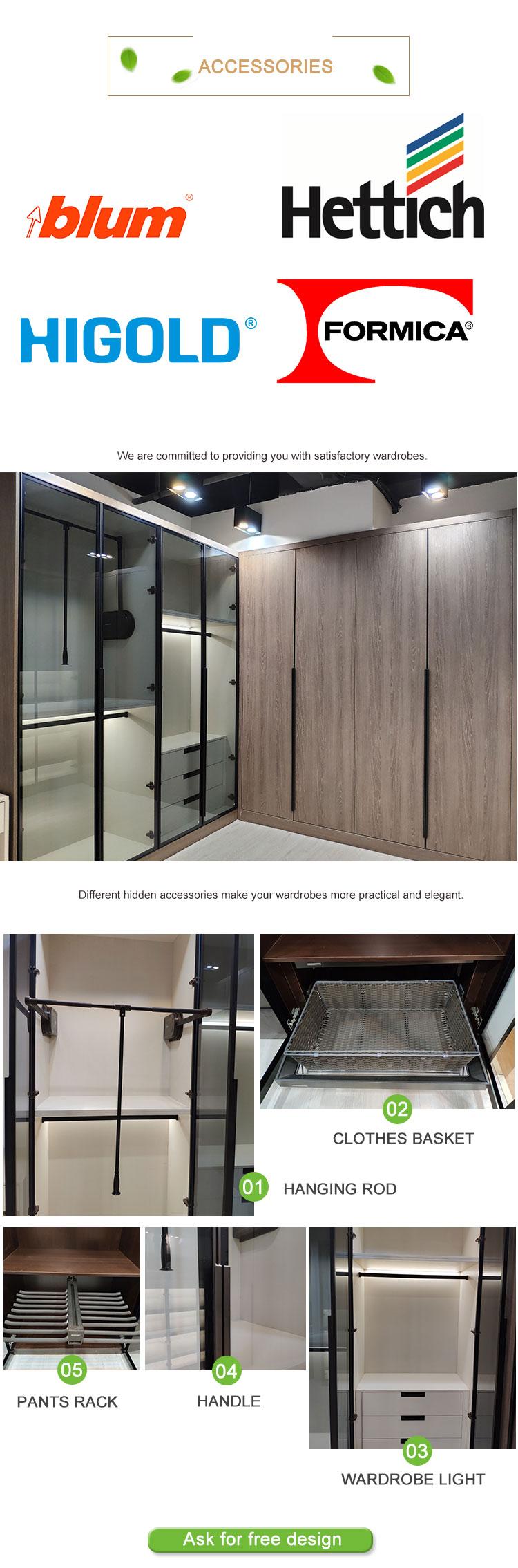 แบบกำหนดเองออกแบบห้องนอนตู้เสื้อผ้าไม้ Bellona ตู้เสื้อผ้ารุ่นและราคา