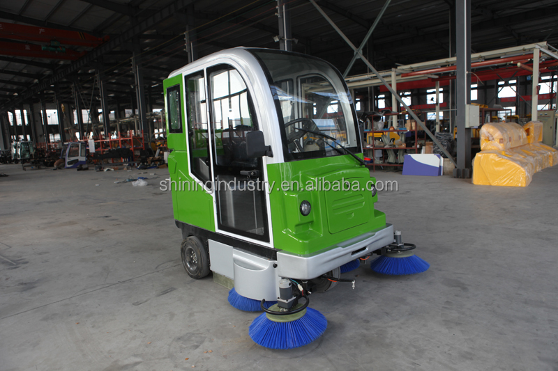 Mechanical floor sweeper commercial airport cleaner manual for Industrial concrete floor cleaning machines