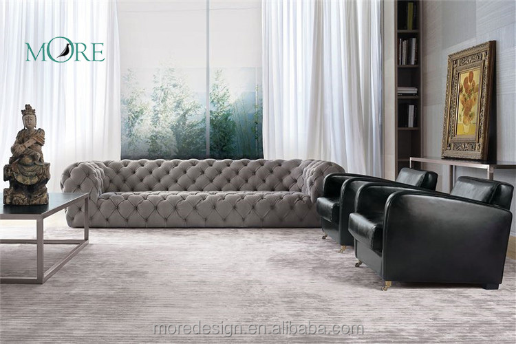 Modern leather chester moon sofa set sectional sofa corner sofa home furniture