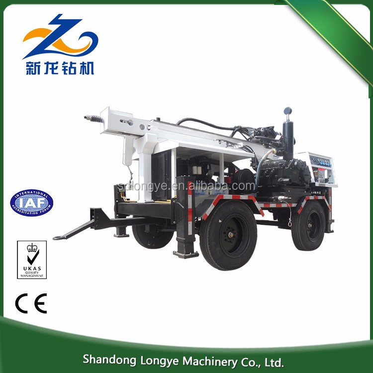 Economical Hot Exported 260m SLY510 portable water well drilling rig for sale