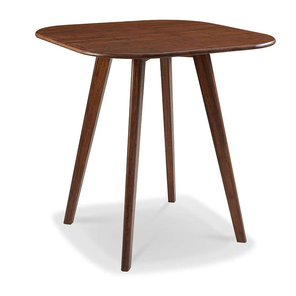 """Currant Solid Bamboo Bar Height Table Exotic Caramelized Solid Bamboo Dimensions: 36""""W X 36""""D X 40""""H Weight: 50 Lbs"""