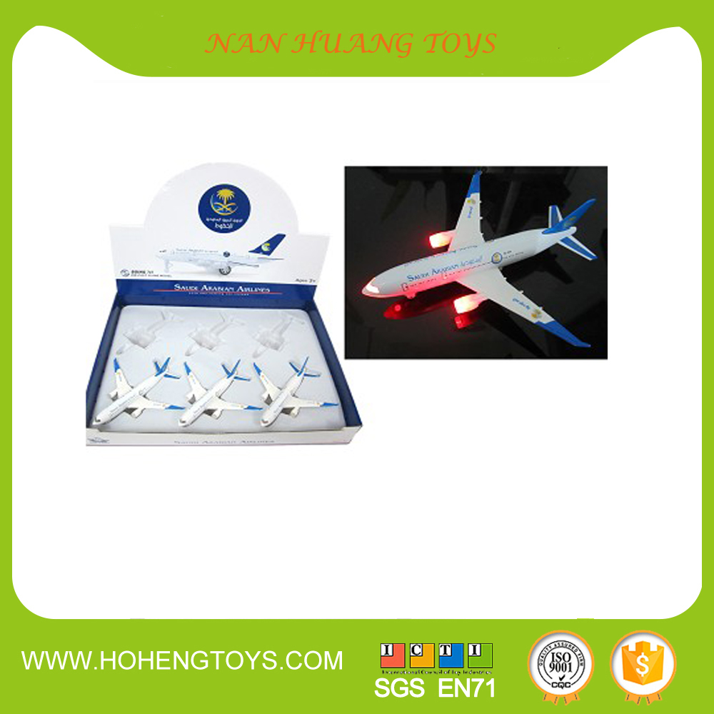 pull back metal toys die cast plane with sound /light