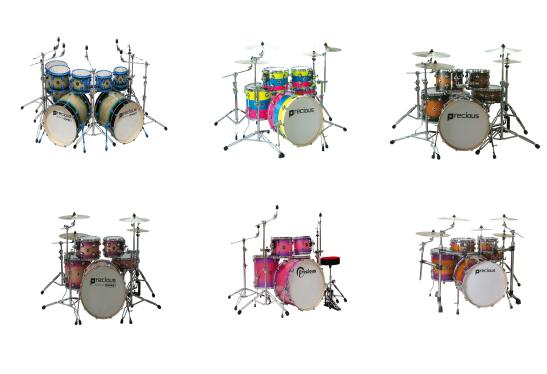 High grade electronic drums percussion set for 5 pieces