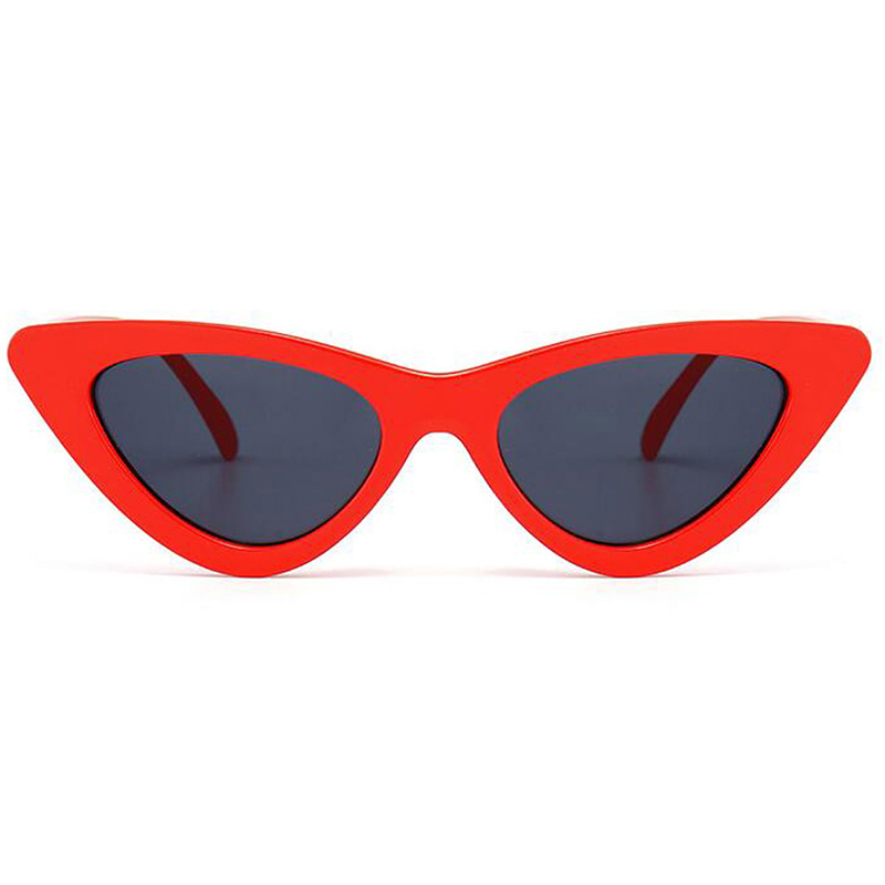 72dc93a17c Small Cat Eye Sunglasses Women 2018 New Luxury Brand Red White Frame Sexy  Eyewear Ladies Candy Color Lens Sun Glasses
