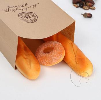 Wholesale Custom Baguette Kraft Paper Bakery Bread Bag For Homemade Bread