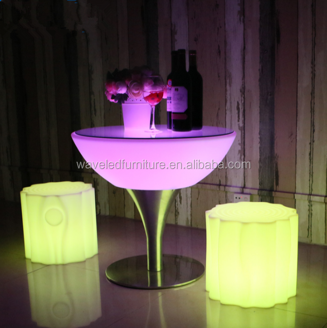 New products light up bar furniture led glow bar chair for sale
