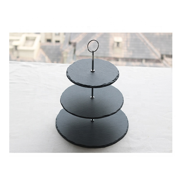 slate material wedding cake stands fashion cake stand