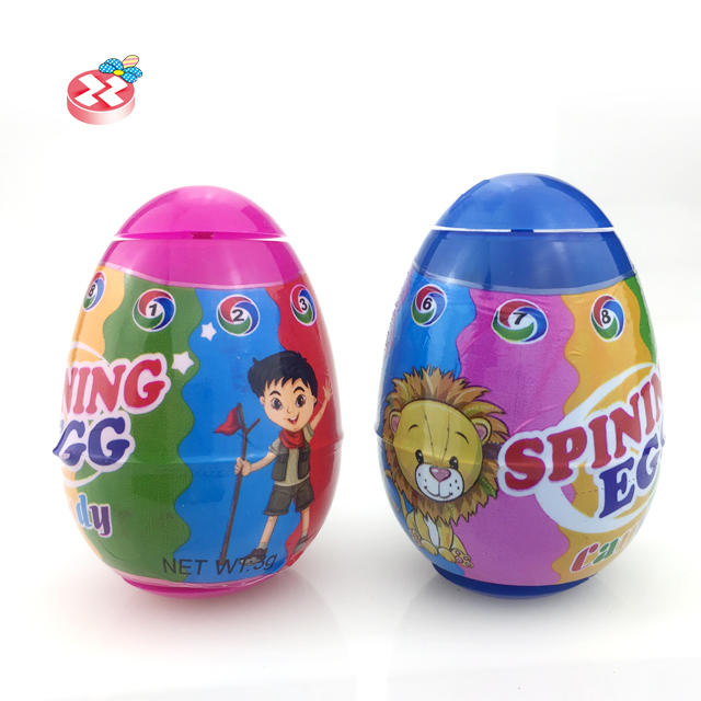 New Surprise Rotating Egg Candy Toy plastic surprise egg candy
