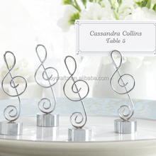 Love Songs Silver Music Note Place Card Holder Wedding