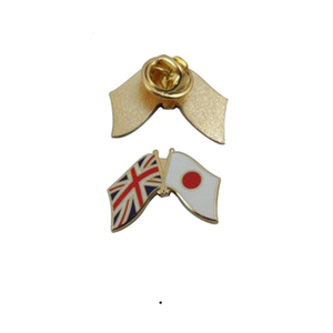 Stock Many Countries Cross Pin Double Flag Lapel Pins