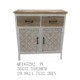 2 doors & 2 drawers metal frame antique wooden living room storage cabinet sideboard chest