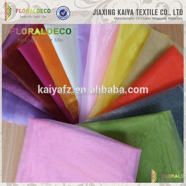 Polyester Material Pure Color Soft Crystal Organza Fabric