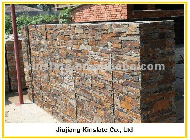 Columna oxidada piedra natural para jardiner a pizarra - Piedra pizarra oxidada ...