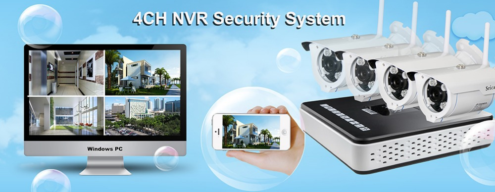 Sricam 8CH Channel NVR Home CCTV system wireless Outdoor Security Surveillance Camera System