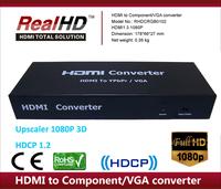 HD converte HDMI to vga/ypbpr/rca+SPDIF audio converter box mkv 336 upscalling 720p/1080p