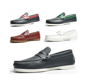 Branded boat casual shoe alibaba stock men genuine leather shoes