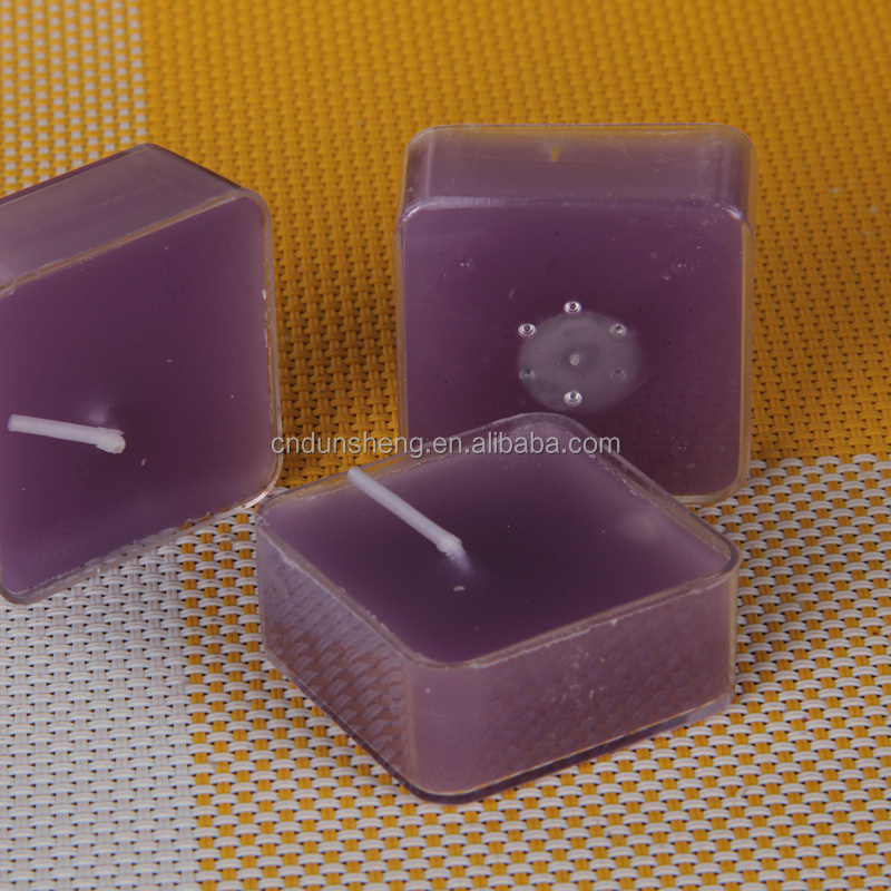 15g single different scented square tealight candle in bulk