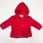 baby sweater/ baby girl's jacquard cardigan sweater / winter knit coat with hood
