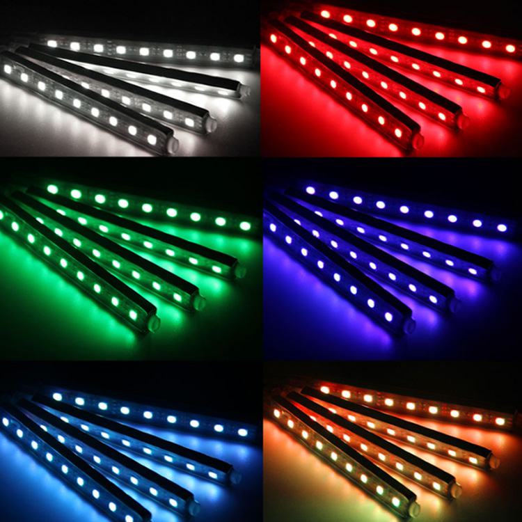 2018 New Interior Car Accessories Auto Led Lamp 8 Color Changing Atmosphere Light LED Strip Light