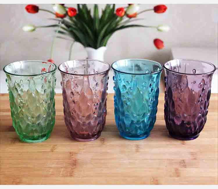 Casa al por mayor boda vajilla hecha a m quina color for Vasos cristal colores