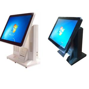 China manufacturer 15inch factory direct windows touch pos integrates thermal printer
