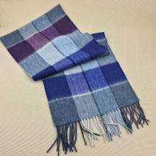 100% Wool Winter Plaid Men Scarf