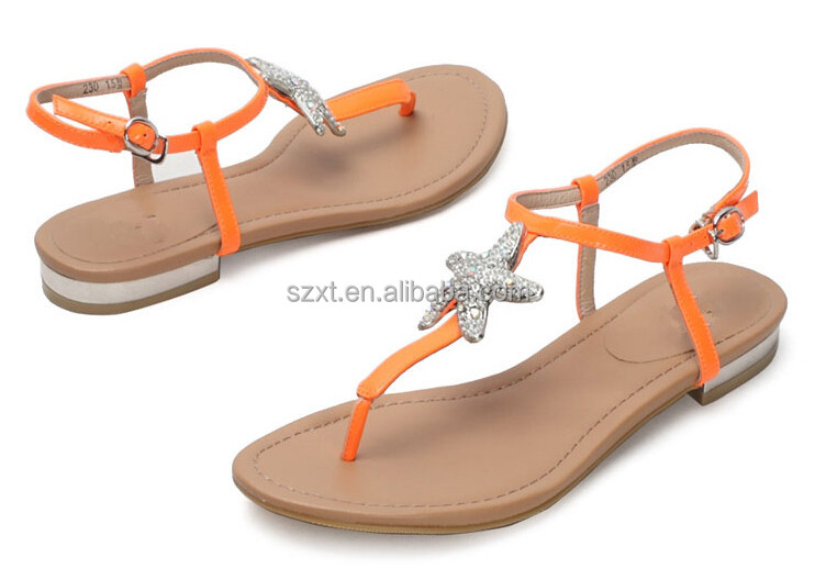 Very Nice Girls Colorful Crystal Flat Sandal Latest Hot Sales ...