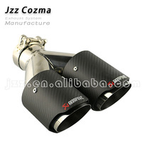 JZZ cozma Akrapovic dual exhaust carbon fiber for suzuki