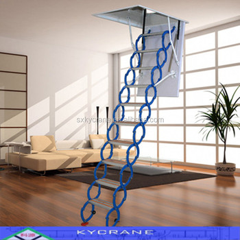 Nice Magnesium Titanium Folding Attic Stairs With Handrail
