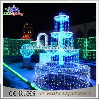 led chasing christmas lights outdoor 3d motif underwater fountain led light