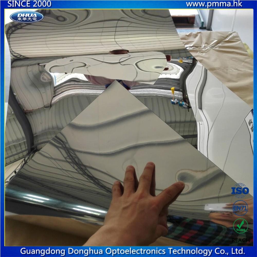 Espejo de pl stico hoja de policarbonato pc flexible espejo hoja hojas de pl stico - Espejo de plastico ...