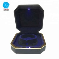 Elegant led Custom design led light jewelry ring bracelet jewelry gift box with velvet insert