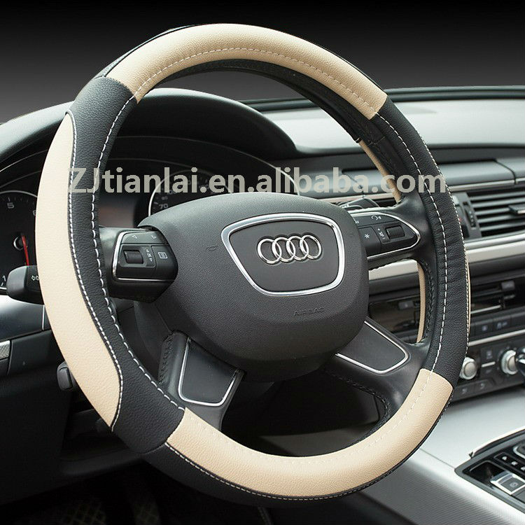 new design PU material WOVEN KNITTED VOLANTE heated steering wheel cover