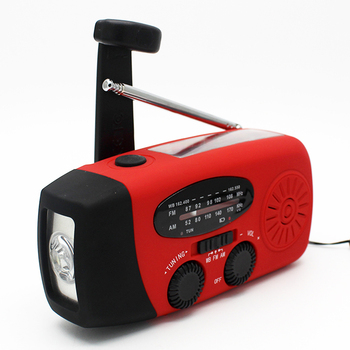 Solar Crank AM/FM/NOAA Outdoor waterproof Radio with Flashlight