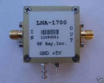 1400-2000MHz 16.5dB Gain 5V,NF=1.4dB, LNA-1700,New, SMA