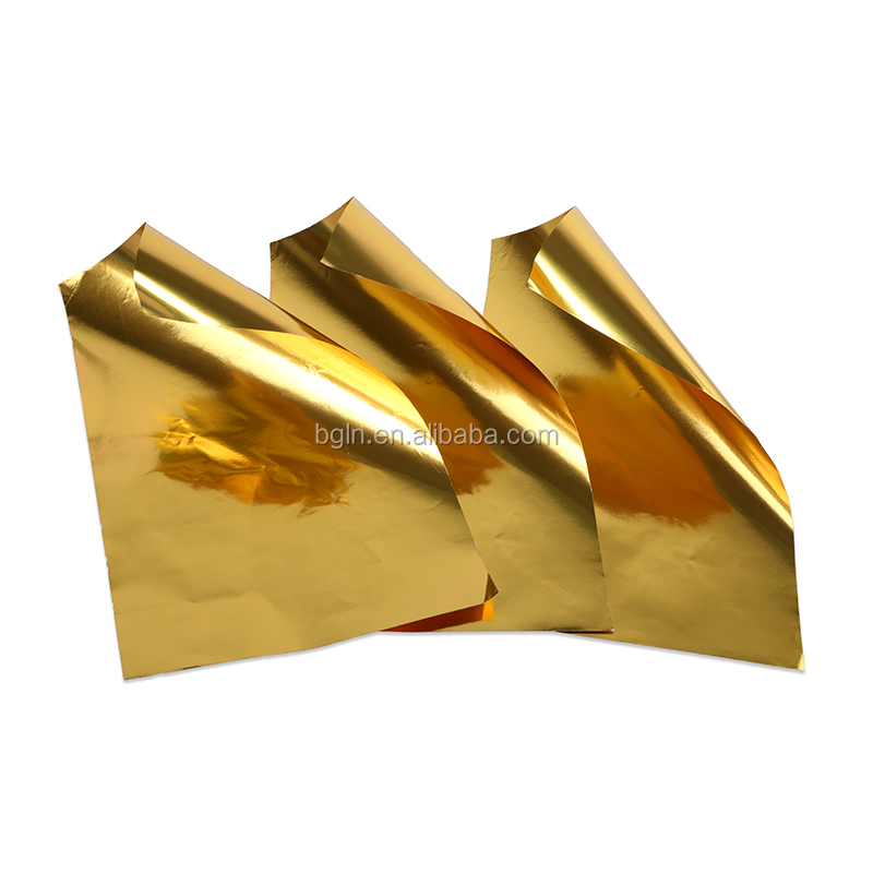 3 blatt copper color art craft aluminium foil paper