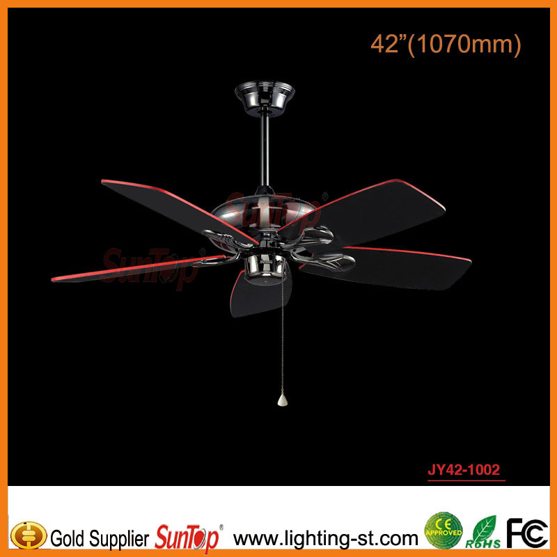 "2014 new modern 42"" wood ceiling fans JY42-1002"