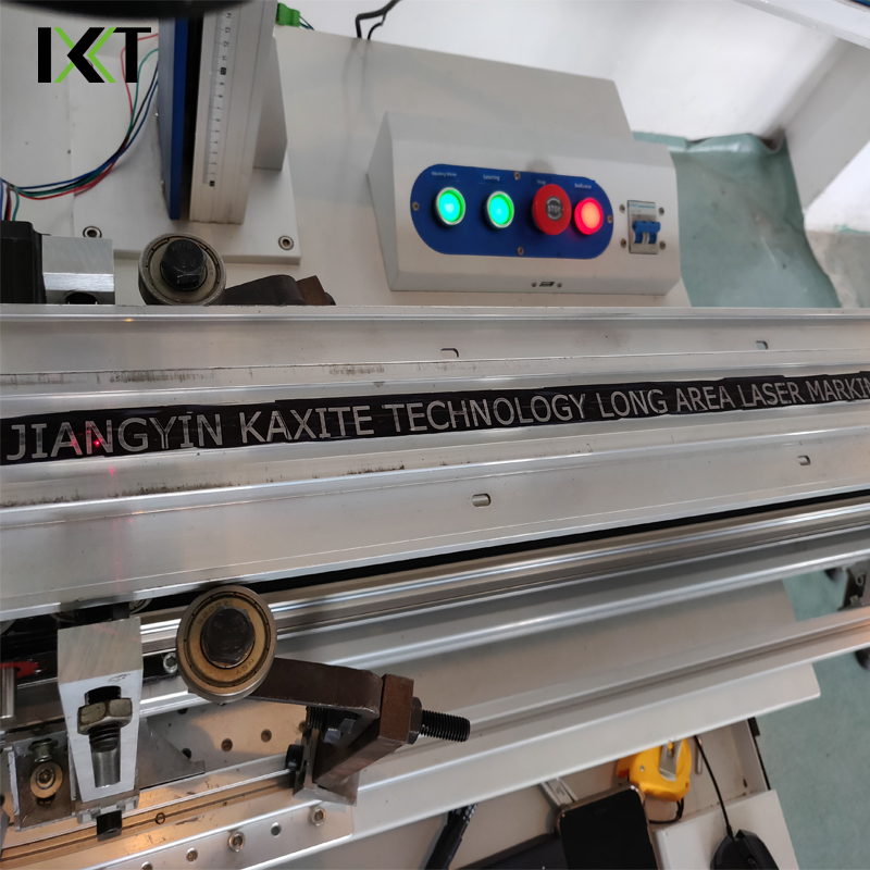 long tick mark high precision automatic 20W laser marking machine