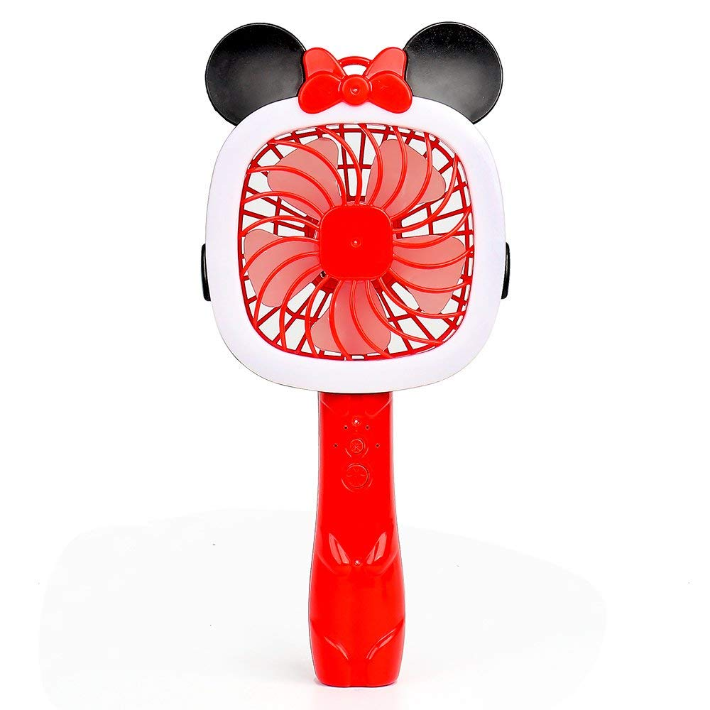 HuBo Mini Cartoon USB Handheld Fan, Multiple Speeds Personal Protable USB Desk Fan Cooling Fan with USB Rechargeable