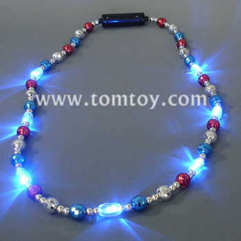 LED Mardi Gras Beads Necklace