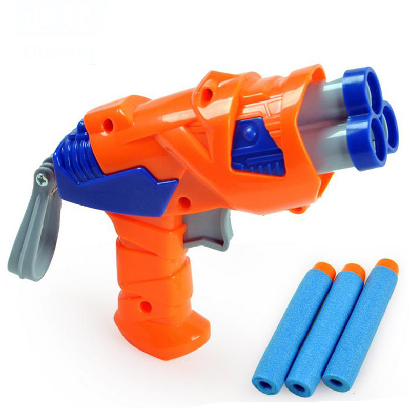 Gun Toy Small Safety Plastic Nerf Gun Pistol Slugterra Mauser Soft Foam Bullet Gun Sports Outdoor Fun Shooting Kid Toys Gift