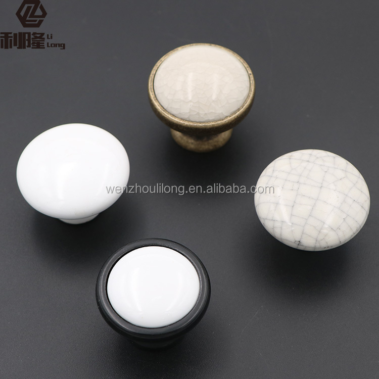New design furniture door knob ceramic for cupboard