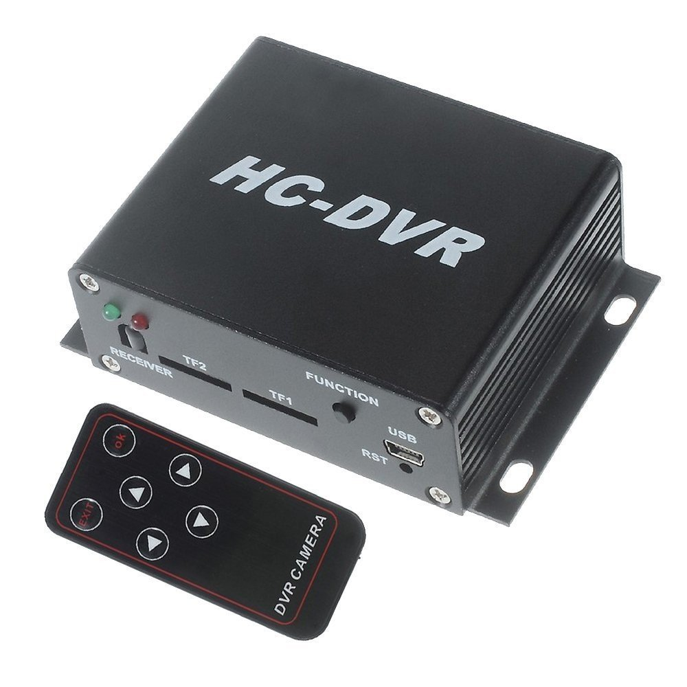 Del-Digital Mini HC-DVR Recorder HD Digital Video Surveillance CCTV Security DVR Recorder For HD Camera, AV-In HDMI & AV Out, Dual TF / SD Memory Card Max to 128G H.264 Compressed