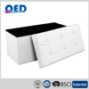 PVC leather folding storage ottoman collapsible box footstool
