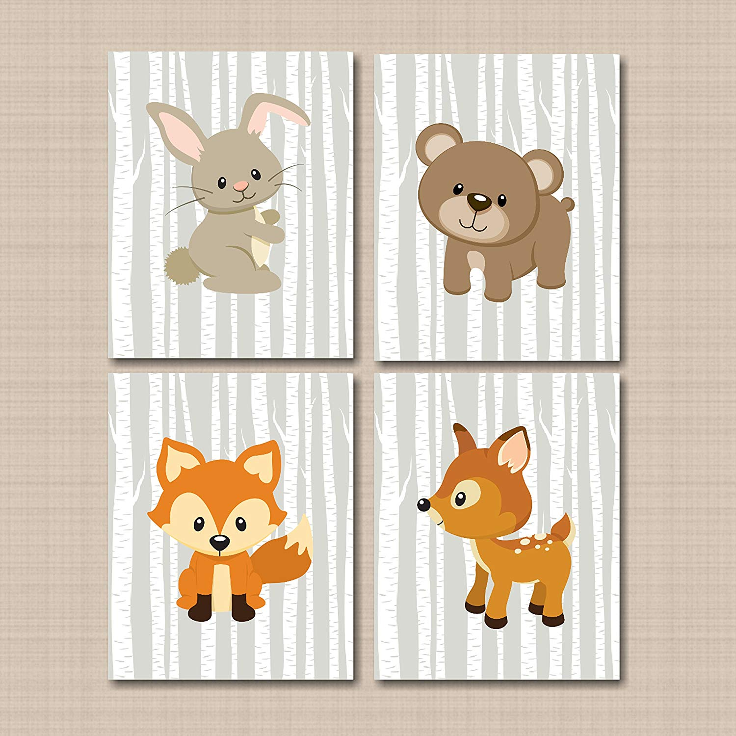 Get Quotations Woodland Nursery Wall Art Tales Forest Animals