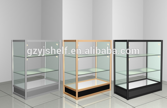 Glass Display Cabinet/glass Display Case With Top Spot Led Light ...